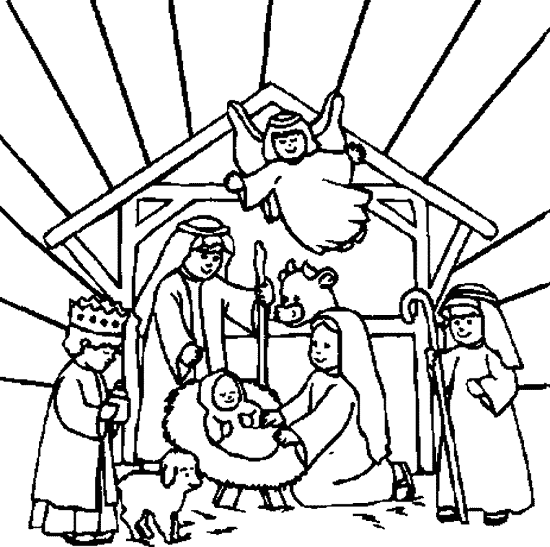free printable nativity coloring pages download free clip