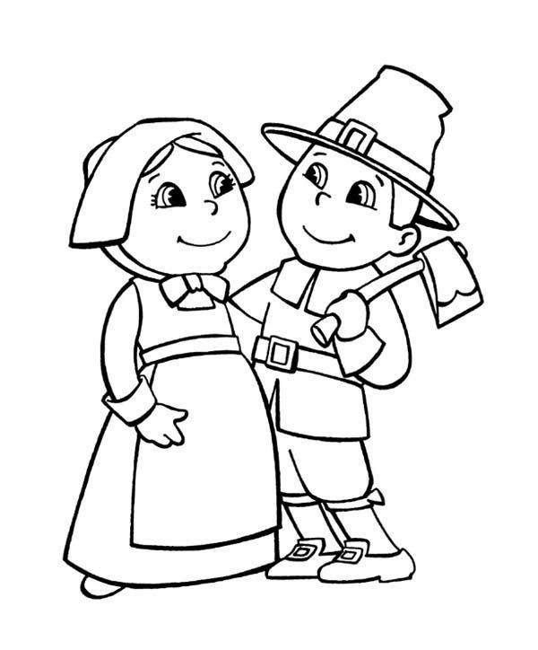 free printable pilgrim coloring pages for kids coloring