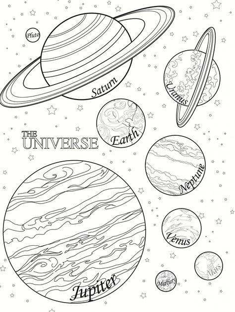 free printable planet coloring pages for kids planeten im