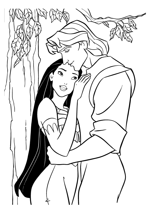 free printable pocahontas coloring pages for kids disney