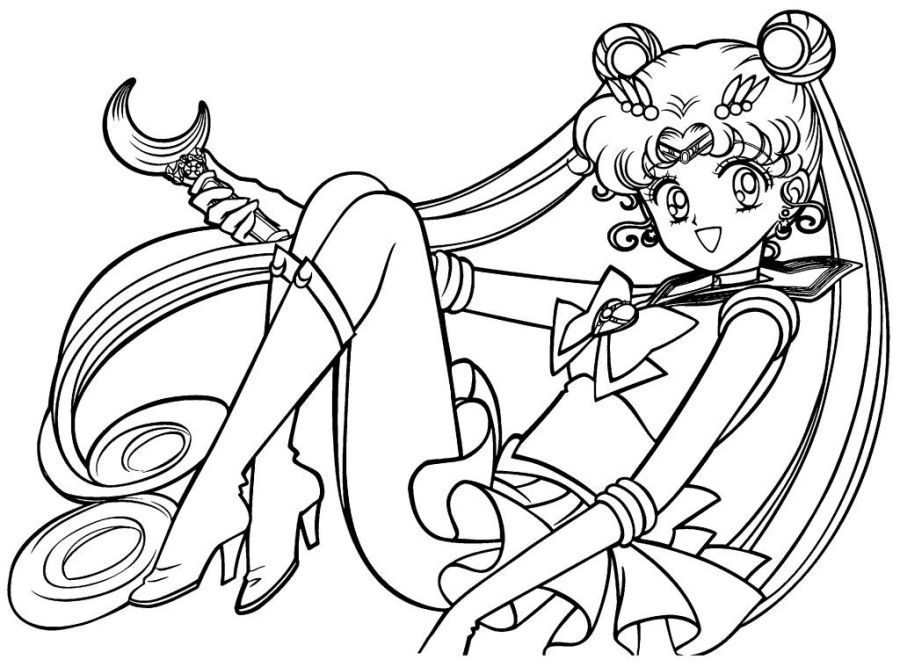free printable sailor moon coloring pages for coloring