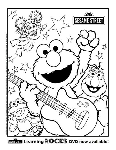 free printable sesame street coloring page sesame street