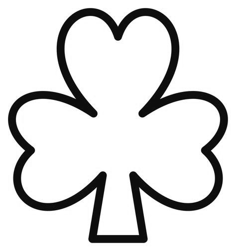 free printable shamrock coloring pages for kids shamrock