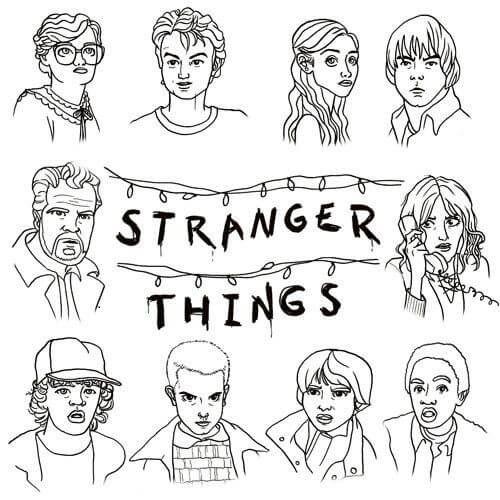 free printable stranger things coloring page stranger