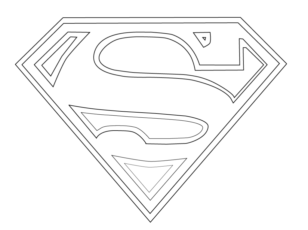 It is a picture of Free Printable Superman Logo with regard to printable popular superhero