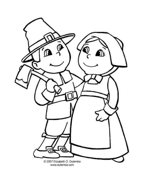 free printable thanksgiving pilgrim coloring pages