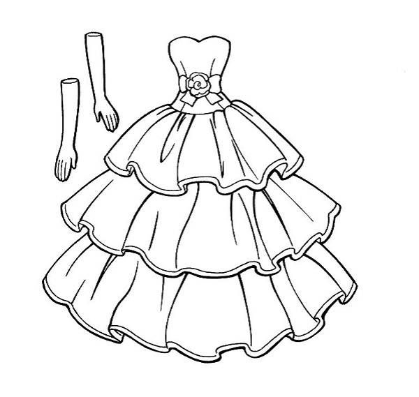 Dress Coloring Pages Pictures - Whitesbelfast