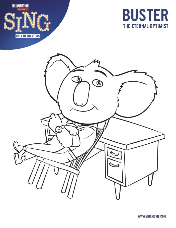 free sing movie coloring pages download free clip art free
