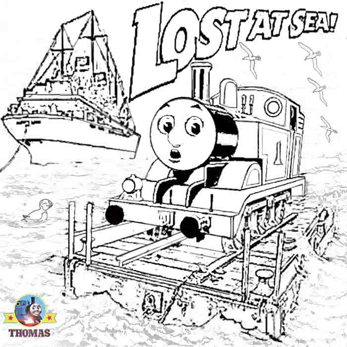 free thomas the train printable coloring pages download