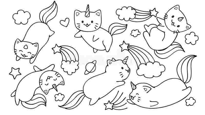 free unicorn cat coloring pages coloring pages unicorn cat
