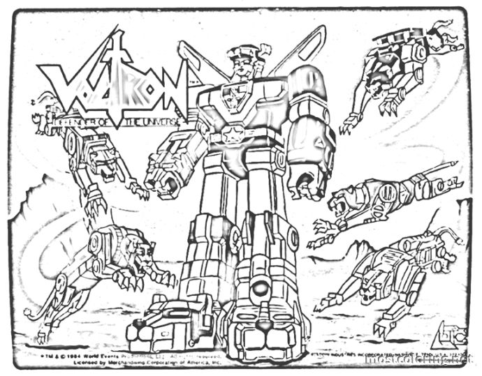 free voltron coloring pages download free clip art free