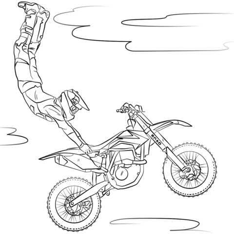 freestyle motocross coloring page free printable coloring