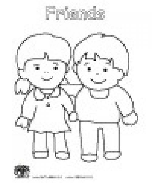 friendship coloring pages for preschool friendship