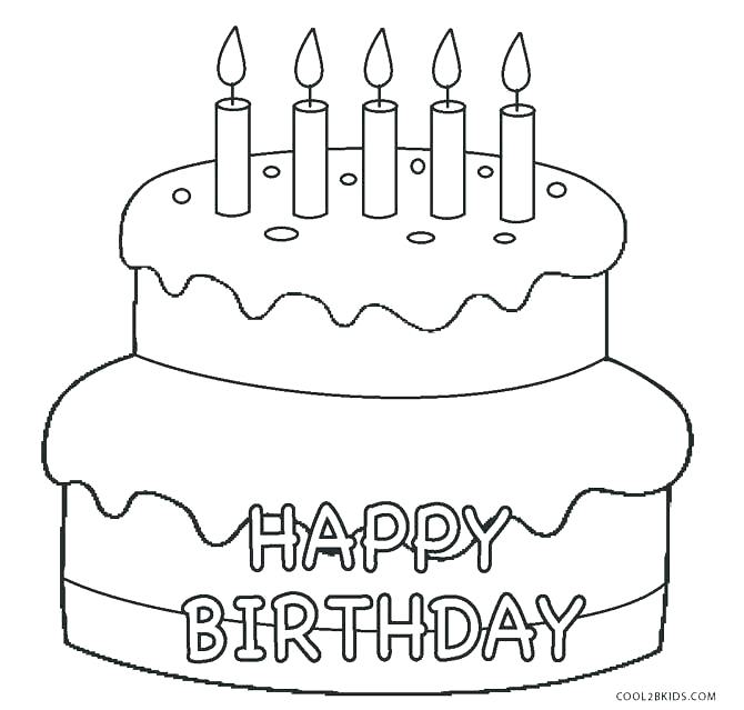 frosted cake coloring pages free printable color pages