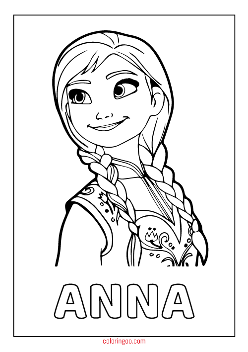 frozen anna printable coloring pages for kids