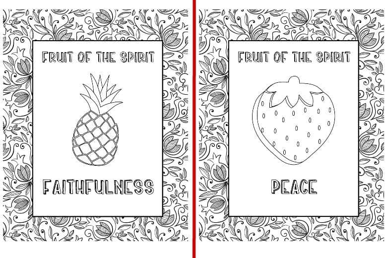 fruit of the spirit 9 coloring pages cultured palate