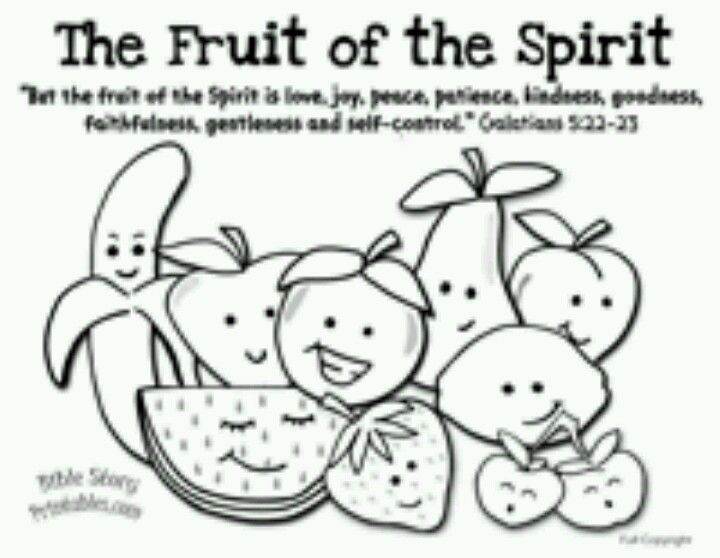 fruit of the spirit coloring page fruit of the spirit