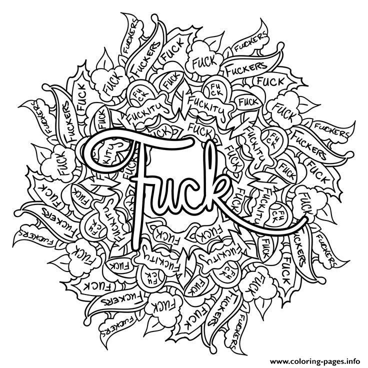 fuck swear word coloring pages printable