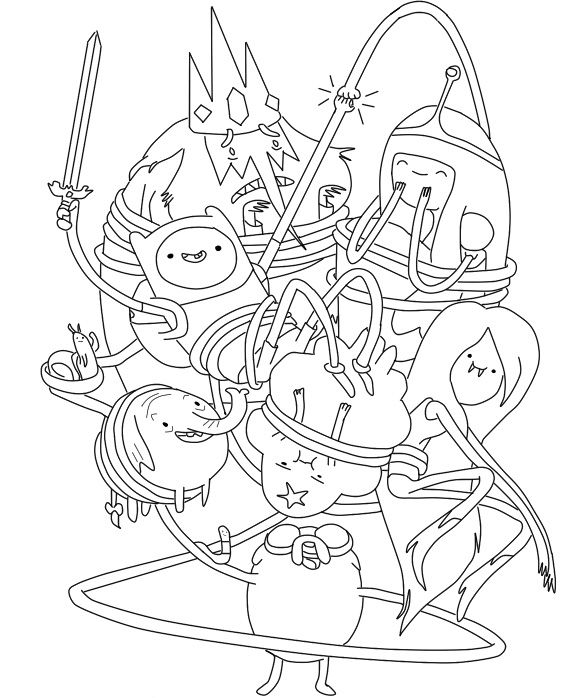 funny adventure time coloring pages adventure time cartoon