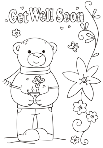 funny get well soon coloring page free printable coloring