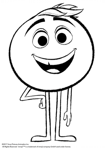 gene from emoji movie omalovnka free printable coloring pages