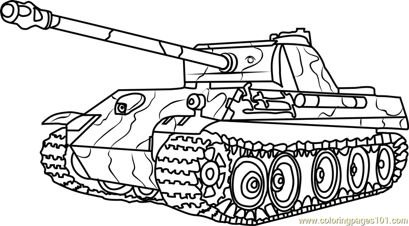 german panther army tank coloring page free tanks coloring