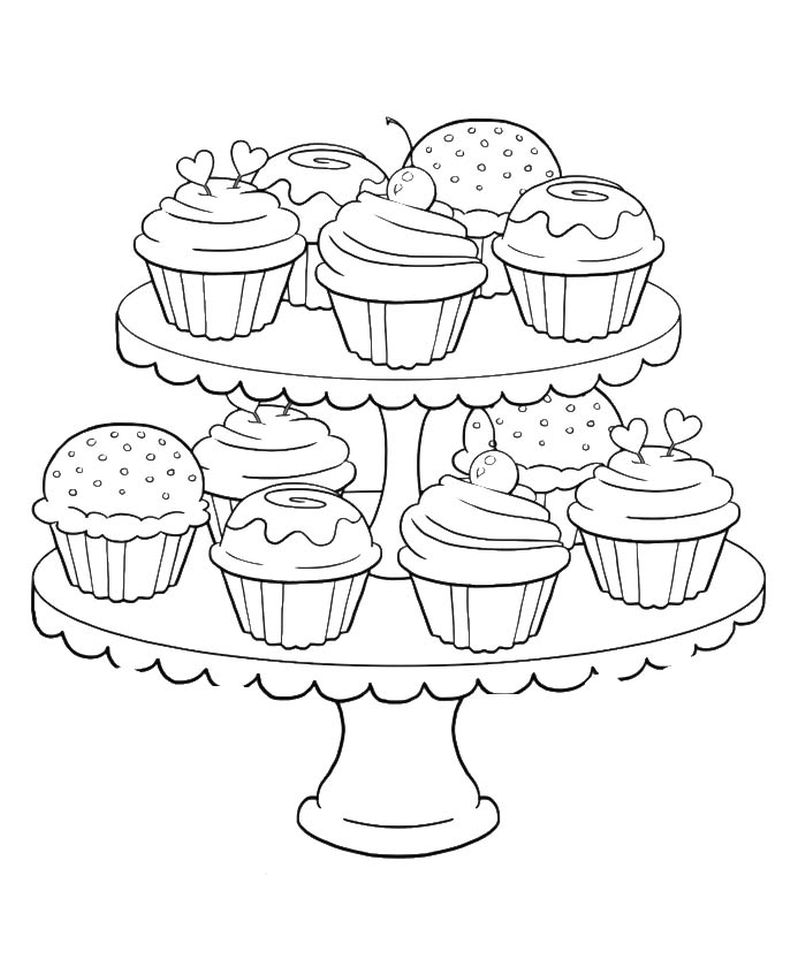 get this birthday cupcake coloring pages for kids 7gb41