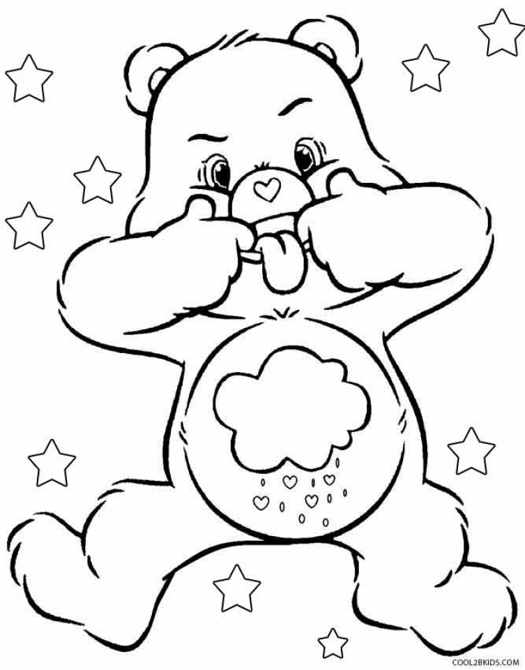get this free printable care bear coloring pages for kids