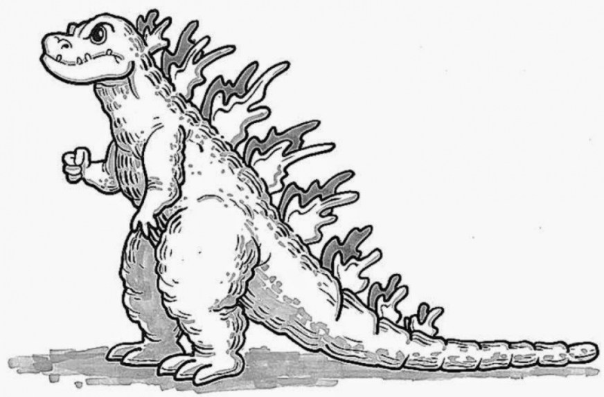 get this free printable godzilla coloring pages for kids i86om