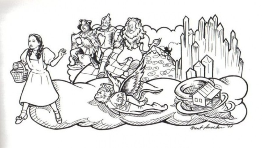 get this free simple wizard of oz coloring pages for
