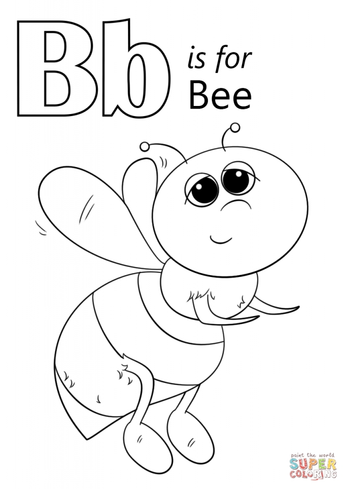 get this letter b coloring pages bee 74219