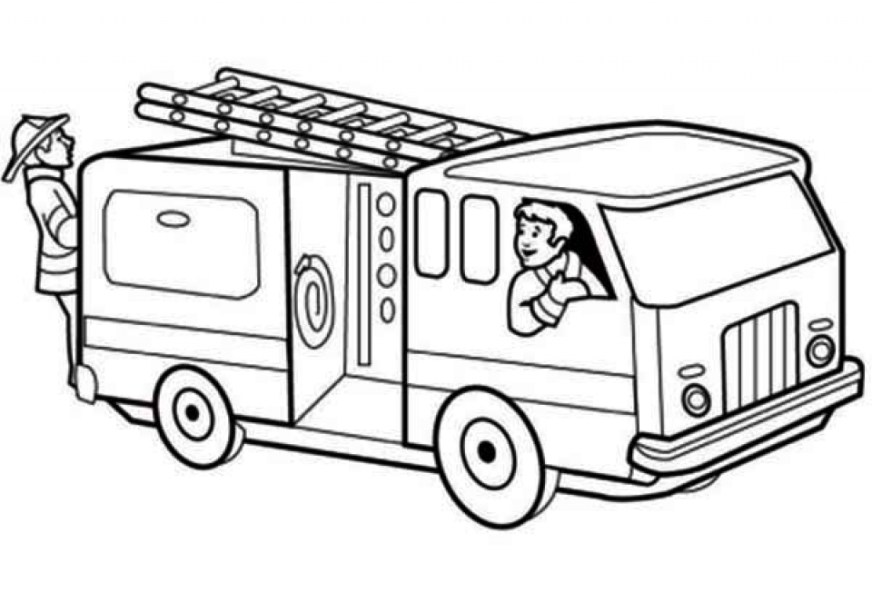 get this printable fire truck coloring page for kids 5181