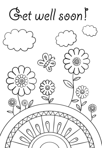 get well soon coloring page from people category select