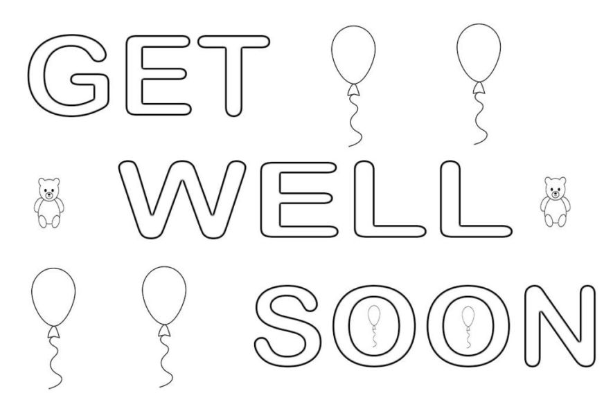 get well soon coloring pages coloring pages get well get