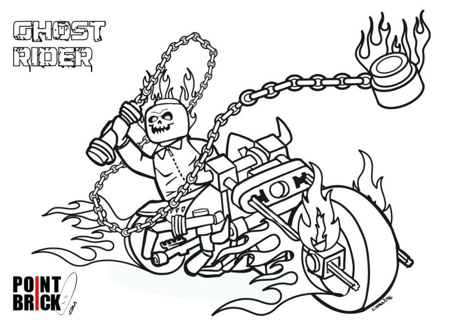 ghost rider coloring pages at getdrawings free for