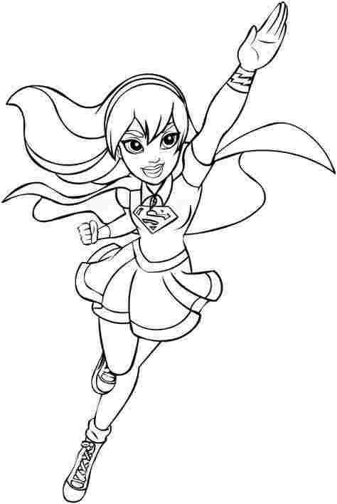 girl coloring pages superheroes pomorski