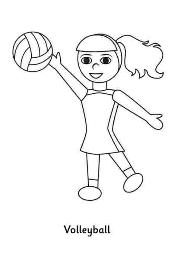 girl playing volleyball coloring pages pomorski
