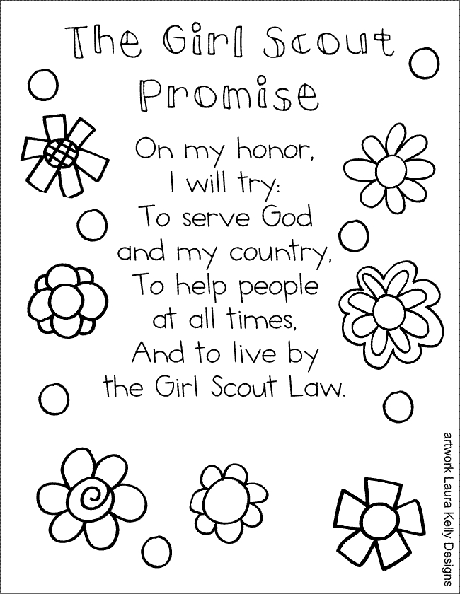 girl scout law and promise coloring pages kaigobank