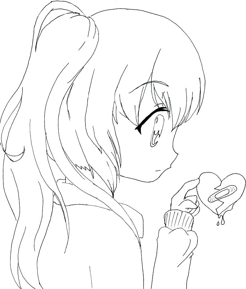 girls coloring pages anime