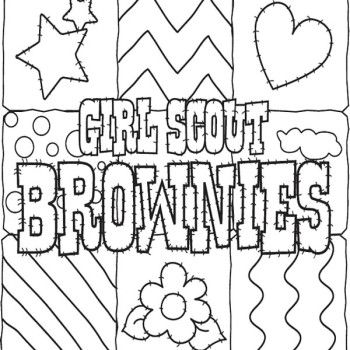 girlscoutbrowniecoloringpages girl scout cookies