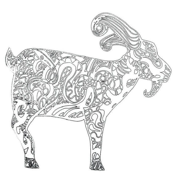 goat coloring pages for adults fun for kids