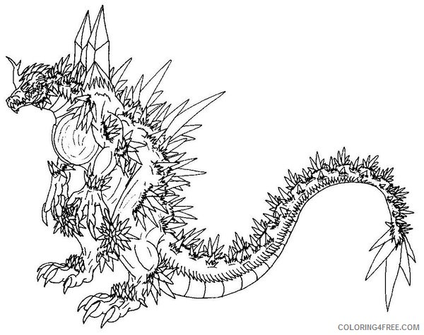 godzilla coloring pages free to print coloring4free
