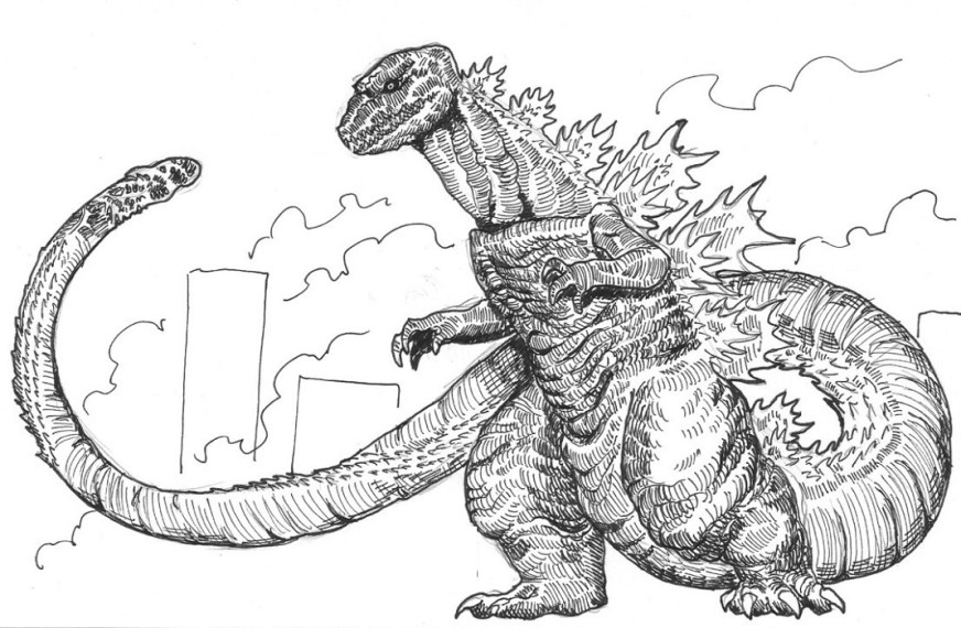 godzilla coloring pages printable activity shelter