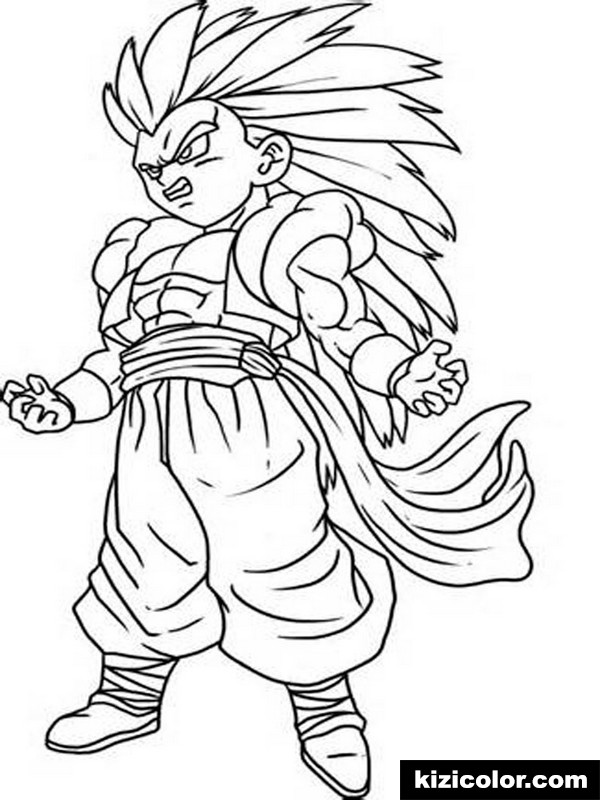 goku for boys 7 kizi free coloring pages for children