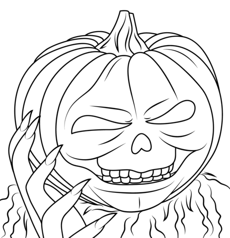 goosebumps jack o lantern coloring page free printable