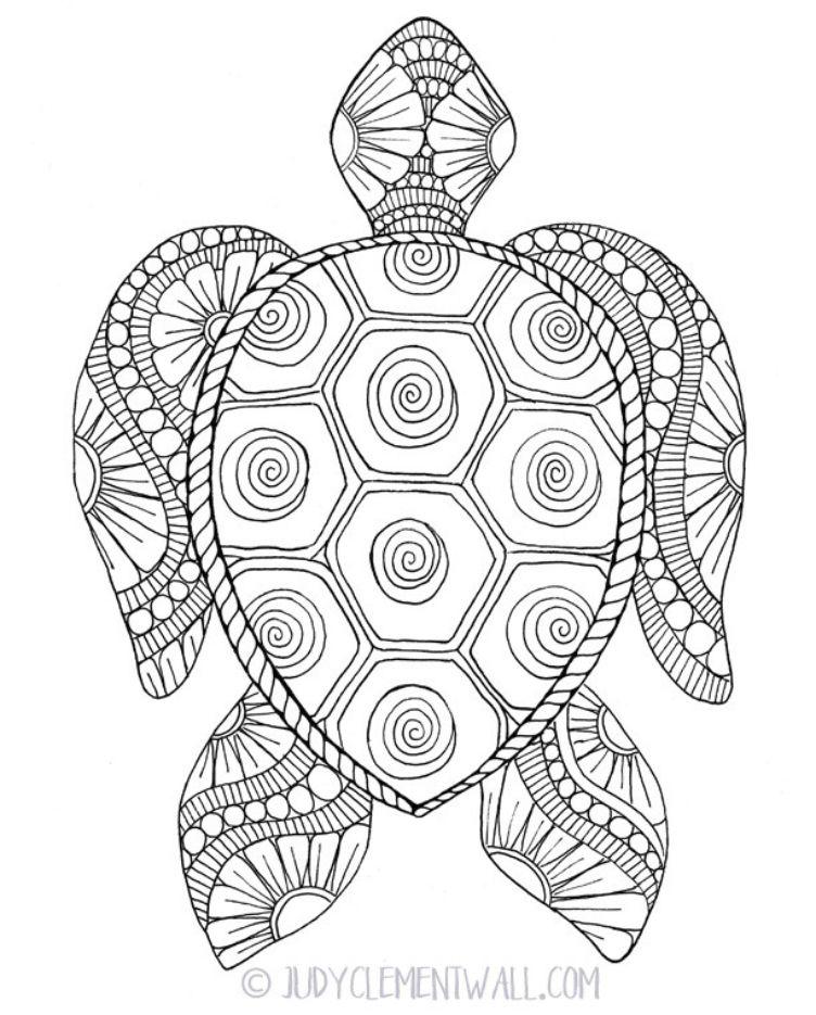 gorgeous sea turtle coloring page ausmalbilder mandala