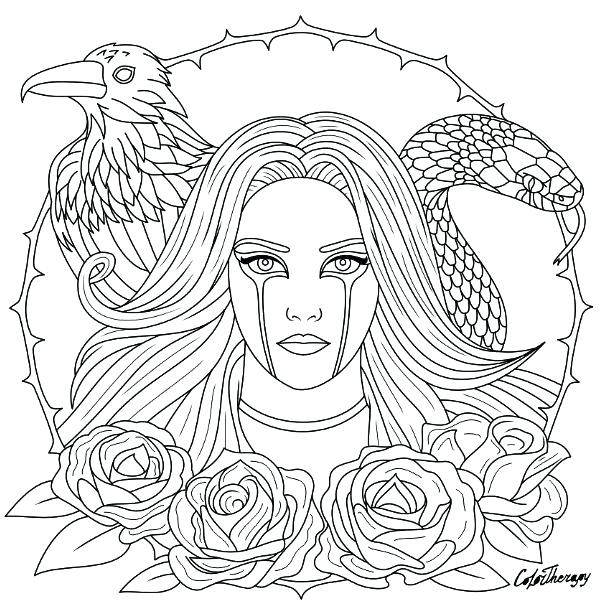 gothic coloring pages for adults at getdrawings free