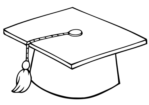 graduate cap coloring page free printable coloring pages