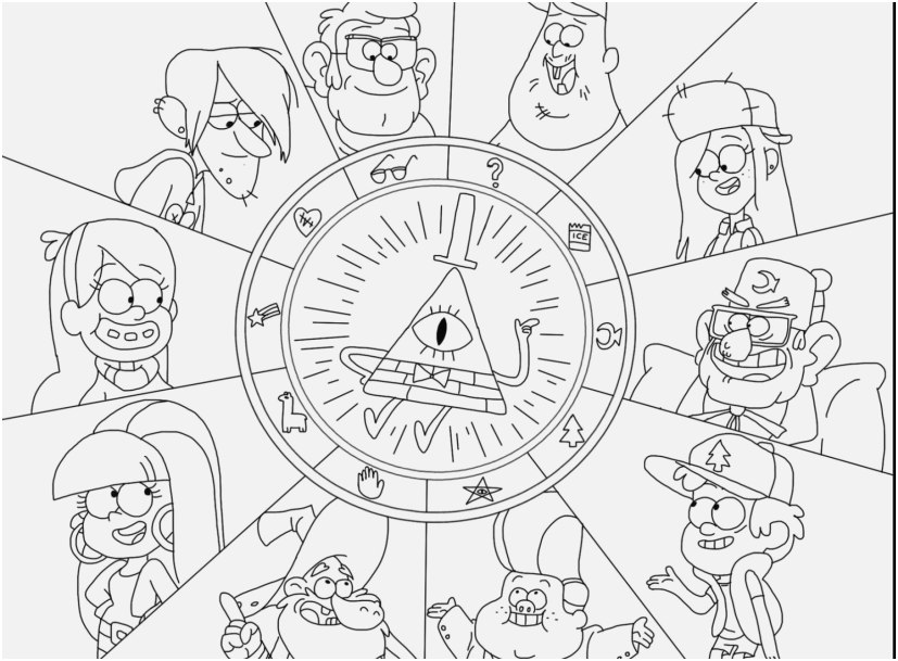 gravity falls coloring pages design gnome gravity falls