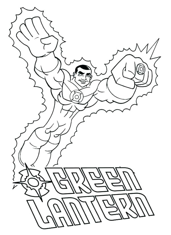 green lantern coloring page lazyfortress